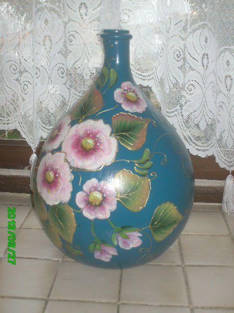 Des fleurs sur verre