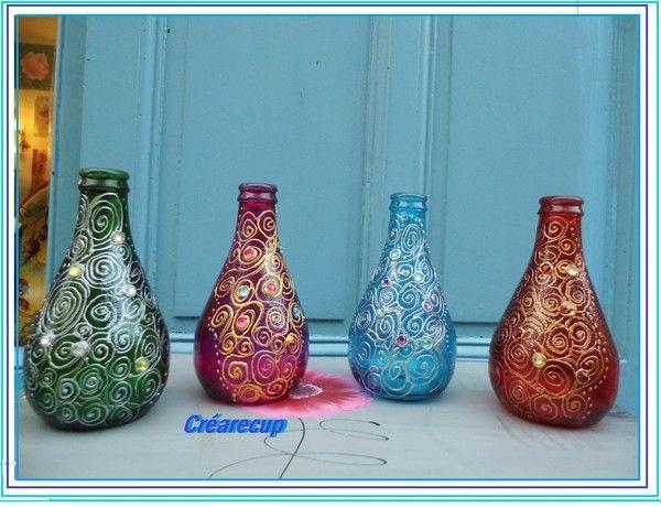 Peinture sur verre - Peindre sur verre 100 modeles originaux ...