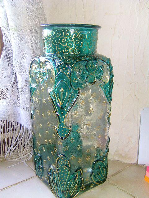 Peindre un vase en verre for Peindre un miroir dore